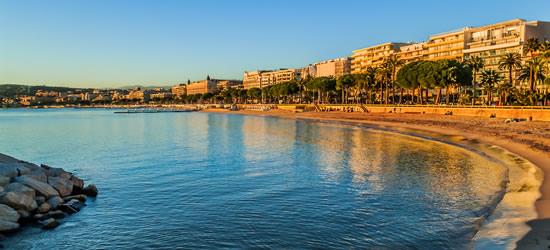 La bahía de Cannes, sur de Francia