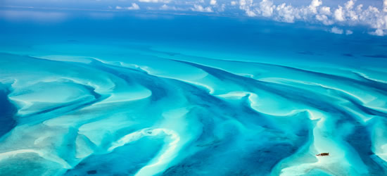Vista aérea de las Bahamas