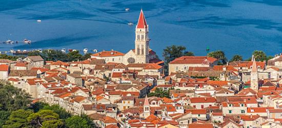 Foto aérea del casco antiguo, Trogir
