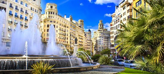 La Plaza del Ayuntamiento, Valencia