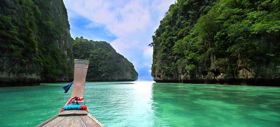 Barco de madera de cola larga, Tailandia