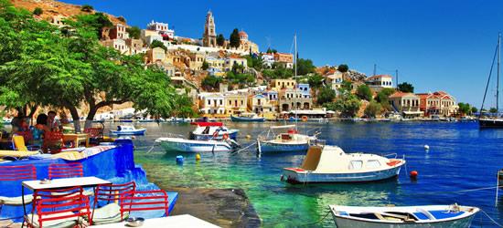 La colorida isla de Symi, región del Dodecaneso