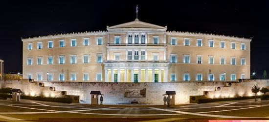 El edificio del Parlamento griego